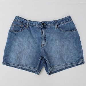 St. John's Bay Stretch Denim Shorts sz 12